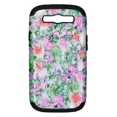 Softly Floral A Samsung Galaxy S III Hardshell Case (PC+Silicone)