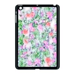 Softly Floral A Apple iPad Mini Case (Black)