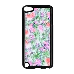 Softly Floral A Apple iPod Touch 5 Case (Black)