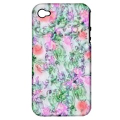 Softly Floral A Apple iPhone 4/4S Hardshell Case (PC+Silicone)