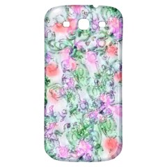 Softly Floral A Samsung Galaxy S3 S III Classic Hardshell Back Case
