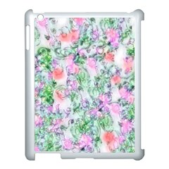 Softly Floral A Apple iPad 3/4 Case (White)