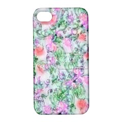 Softly Floral A Apple iPhone 4/4S Hardshell Case with Stand