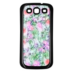 Softly Floral A Samsung Galaxy S3 Back Case (Black)
