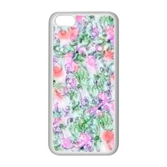 Softly Floral A Apple iPhone 5C Seamless Case (White)