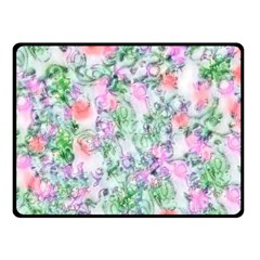 Softly Floral A Double Sided Fleece Blanket (Small)