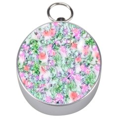 Softly Floral A Silver Compasses