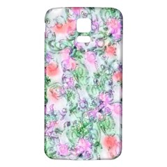 Softly Floral A Samsung Galaxy S5 Back Case (White)