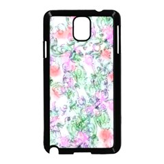 Softly Floral A Samsung Galaxy Note 3 Neo Hardshell Case (Black)