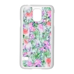 Softly Floral A Samsung Galaxy S5 Case (White)