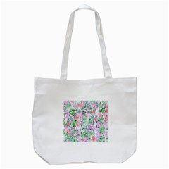 Softly Floral A Tote Bag (White)