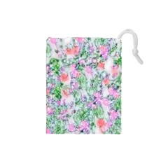 Softly Floral A Drawstring Pouches (Small)