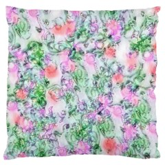 Softly Floral A Large Flano Cushion Case (One Side)