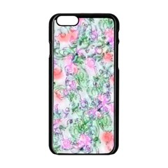 Softly Floral A Apple iPhone 6/6S Black Enamel Case