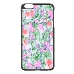 Softly Floral A Apple iPhone 6 Plus/6S Plus Black Enamel Case