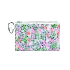 Softly Floral A Canvas Cosmetic Bag (S)