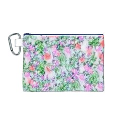 Softly Floral A Canvas Cosmetic Bag (M)