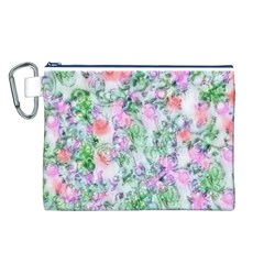 Softly Floral A Canvas Cosmetic Bag (L)