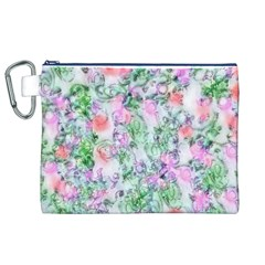 Softly Floral A Canvas Cosmetic Bag (XL)