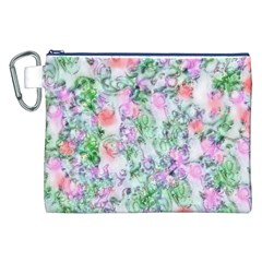 Softly Floral A Canvas Cosmetic Bag (XXL)
