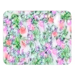 Softly Floral A Double Sided Flano Blanket (Large)