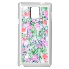 Softly Floral A Samsung Galaxy Note 4 Case (White)