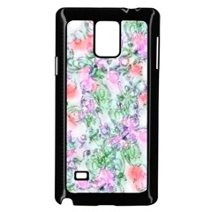 Softly Floral A Samsung Galaxy Note 4 Case (Black)