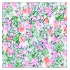 Softly Floral A Large Satin Scarf (Square)