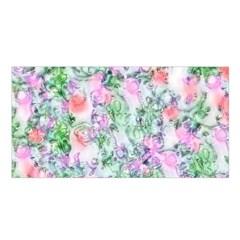 Softly Floral A Satin Shawl