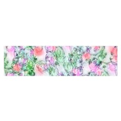 Softly Floral A Satin Scarf (Oblong)