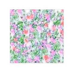 Softly Floral A Small Satin Scarf (Square)