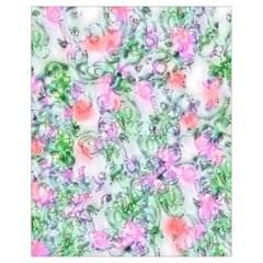 Softly Floral A Drawstring Bag (Small)