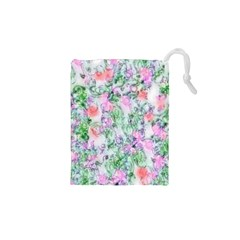 Softly Floral A Drawstring Pouches (XS)