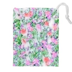 Softly Floral A Drawstring Pouches (XXL)