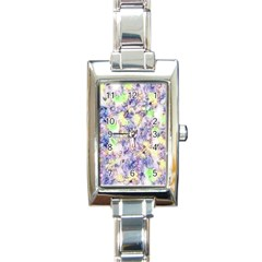 Softly Floral B Rectangle Italian Charm Watch