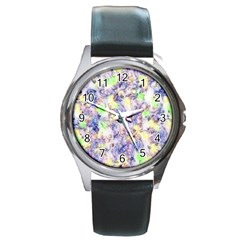 Softly Floral B Round Metal Watch