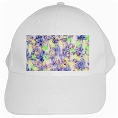 Softly Floral B White Cap