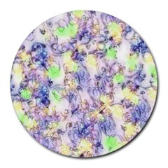 Softly Floral B Round Mousepads