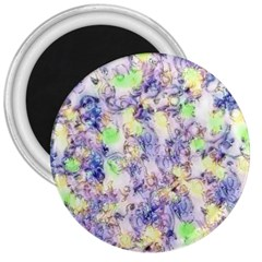 Softly Floral B 3  Magnets
