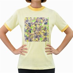 Softly Floral B Women s Fitted Ringer T-Shirts
