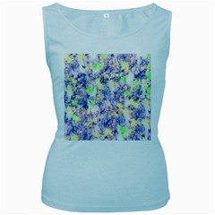 Softly Floral B Women s Baby Blue Tank Top
