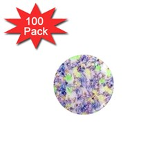 Softly Floral B 1  Mini Magnets (100 pack)