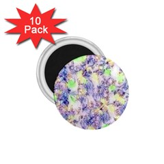 Softly Floral B 1.75  Magnets (10 pack)