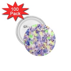 Softly Floral B 1.75  Buttons (100 pack)
