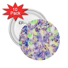 Softly Floral B 2.25  Buttons (10 pack)
