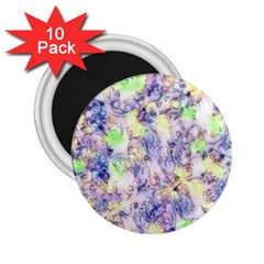Softly Floral B 2.25  Magnets (10 pack)