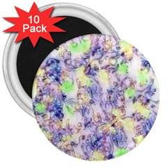 Softly Floral B 3  Magnets (10 pack)