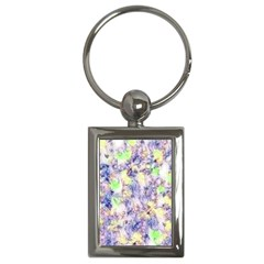 Softly Floral B Key Chains (Rectangle)