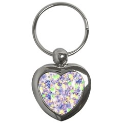 Softly Floral B Key Chains (Heart)