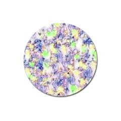 Softly Floral B Magnet 3  (Round)